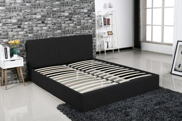 łóżko Tapicerowane Do Sypialni Mensa Czarne