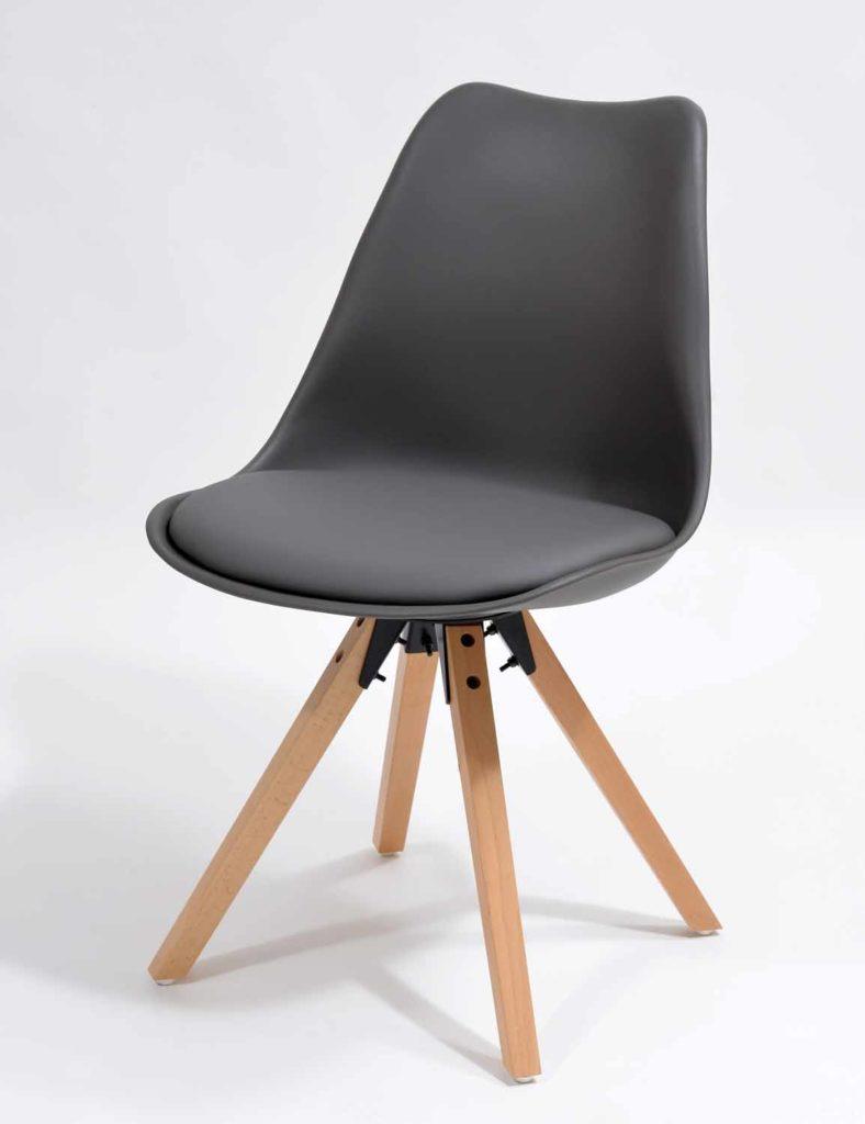 Nowoczesne krzesła skandynawskie szare