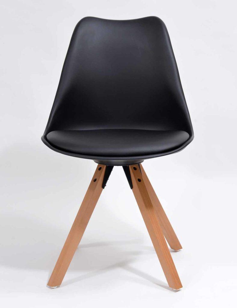 Nowoczesne krzesła skandynawskie czarne