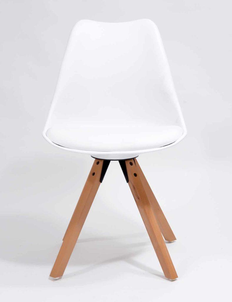 Nowoczesne krzesła skandynawskie białe