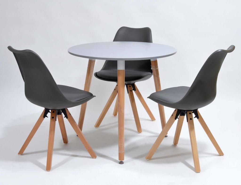 Nowoczesne krzesła skandynawskie + stół