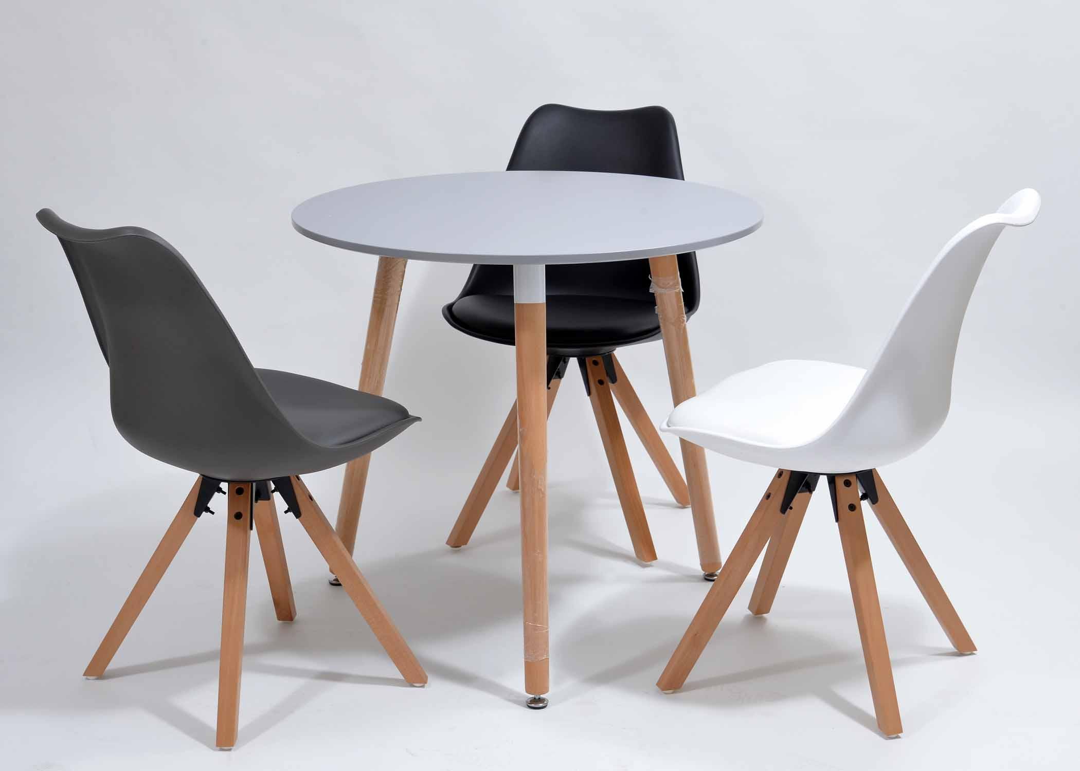 krzesła skandynawskie z poduszką