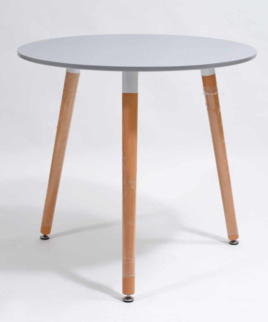 stolik kawowy okrągły szary