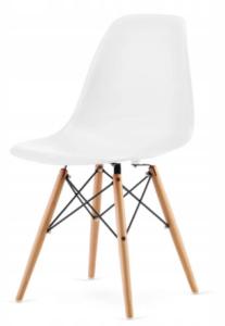 Nowoczesne krzesło skandynawskie Italian Style w kolorze białym do salonu, jadalni, biura, restauracji
