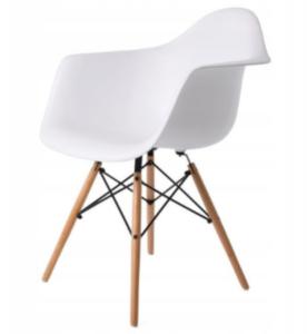Krzesło szerokie styl skandynawski, białe