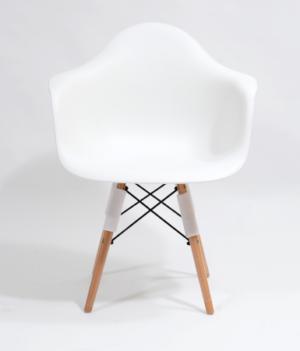 Nowoczesne krzesła skandynawskie szerokie białe