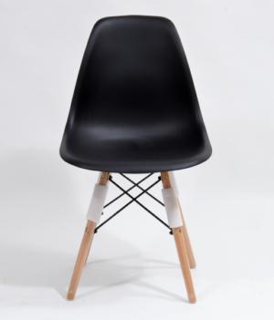 krzesło skandynawskie czarne plastikowe