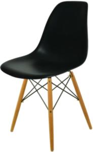 Krzesło styl skandynawski, czarne