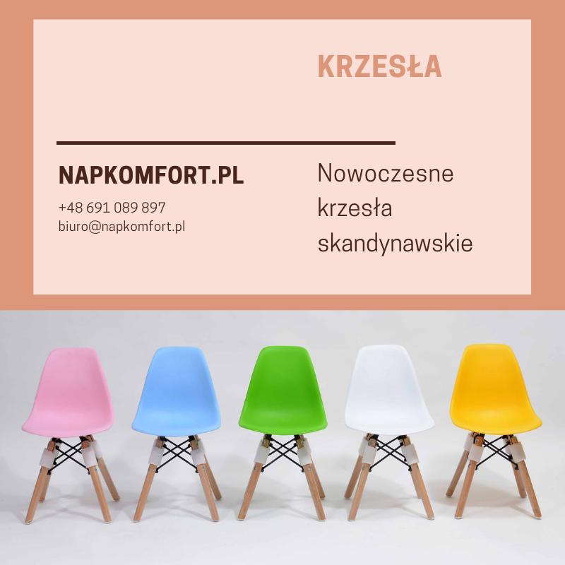 Nowoczesne krzesło, krzesełko dziecięce, 5 kolorów