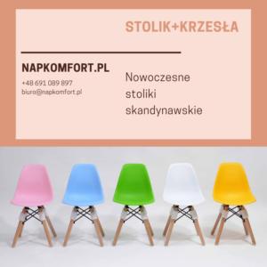 Krzesła w stylu skandynawskim wykonane są najczęściej z tworzywa sztucznego, metalu, szkła z elementami drewnianymi.