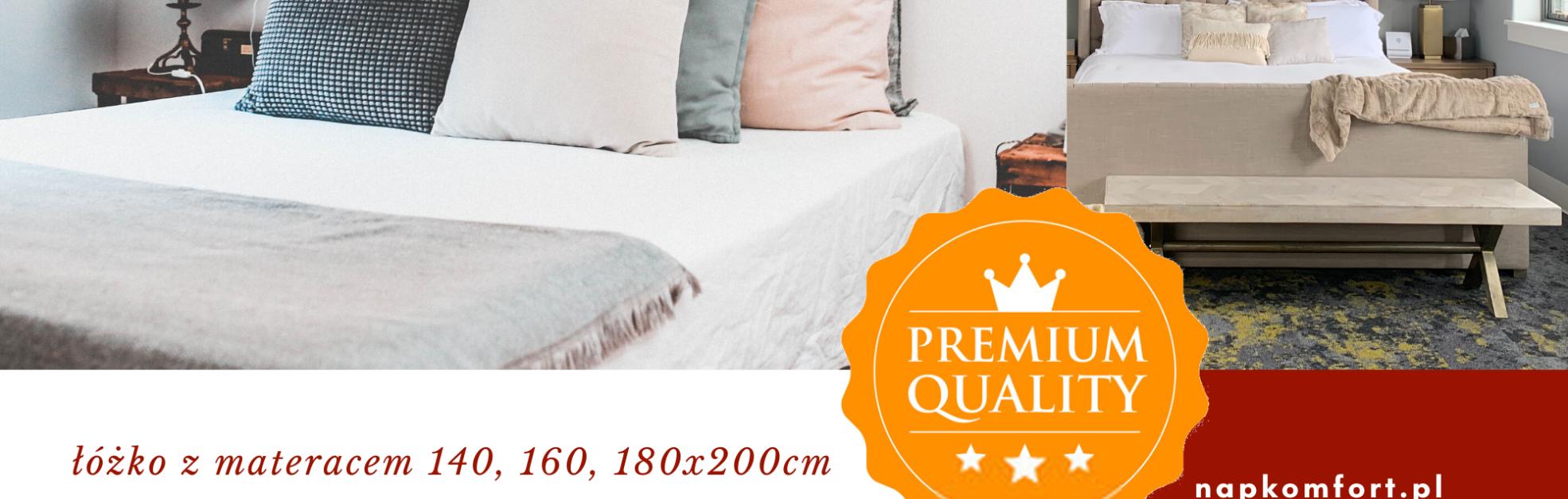 łóżka z materacem do sypialni