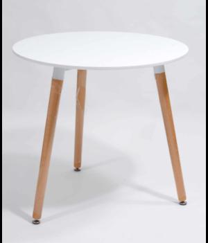 Stolik kawowy okrągły biały