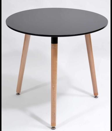 Stolik Kawowy Okrągły Czarny średnica 80cm