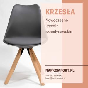 Nowoczesne krzesła w skandynawskim stylu