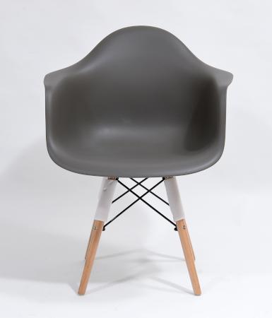 Nowoczesne krzesła skandynawskie szare szerokie