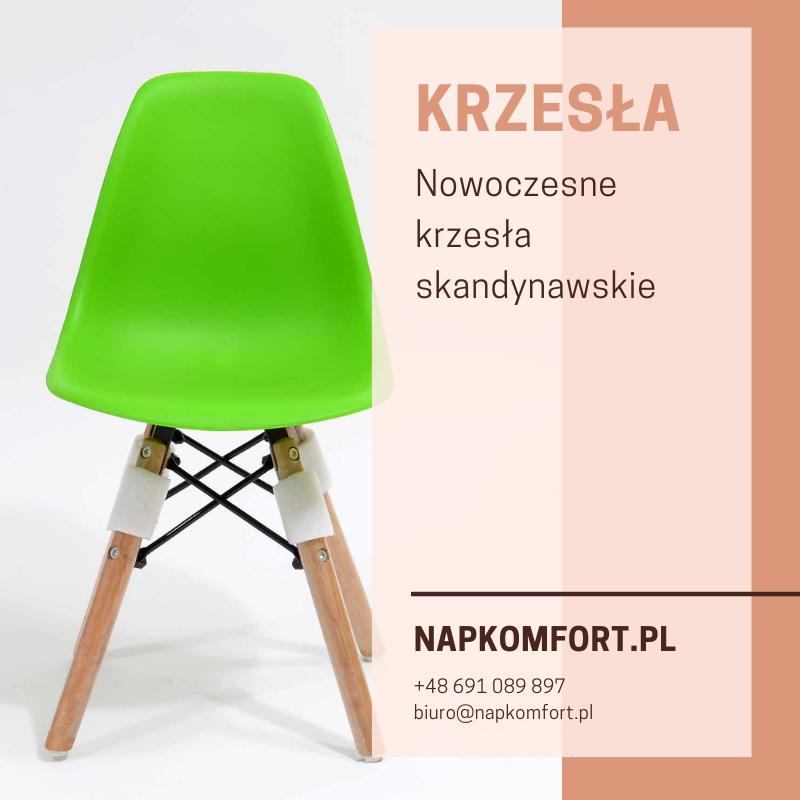 Nowoczesne krzesło skandynawskie, krzesełko dziecięce, 5 kolorów