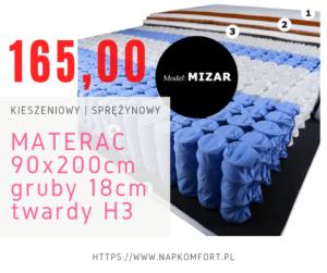 materac kieszeniowy 90×200cm
