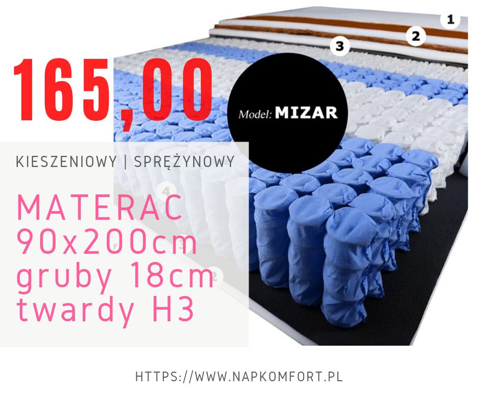 Materac 90 x 200cm H3