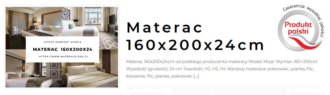 materac ortopedyczny 160x200
