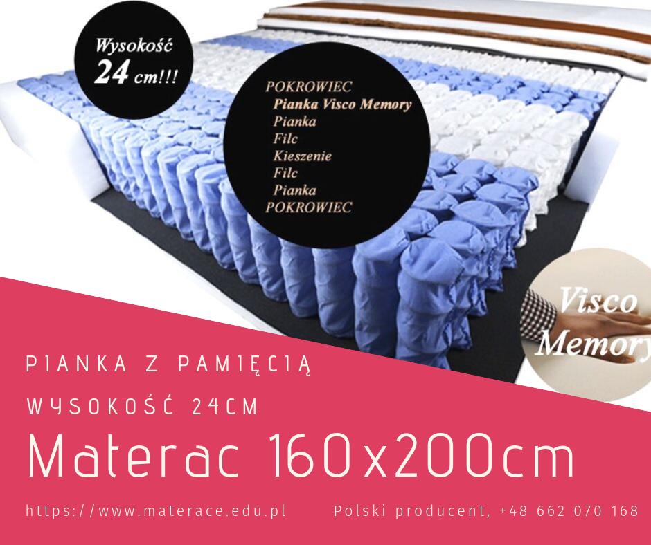 materac piankowy 160x200