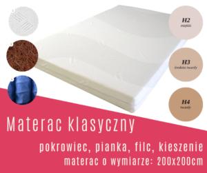 materac klasyczny 200x200