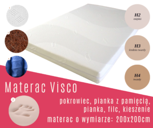 materac visco 200x200