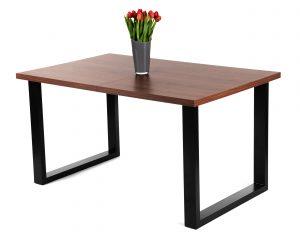 Rozkładany stół loftowy ADAM ciemny orzech