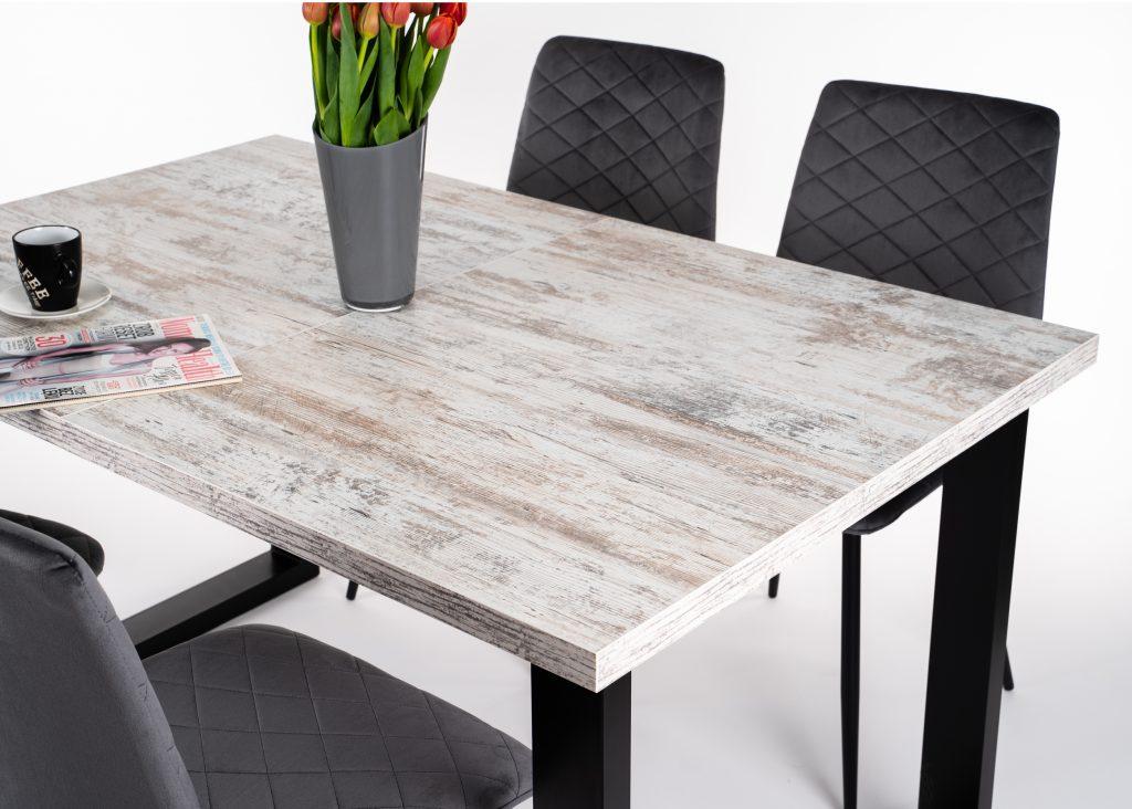 Rozkładany stół loftowy ADAM sosna bielona