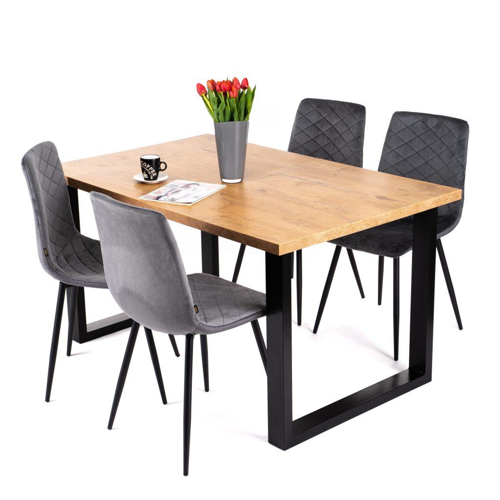 Nowoczesny loftowy stół rozkładany do jadalni